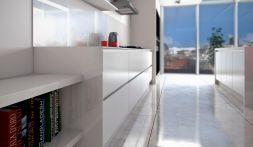 Linear Gloss White & Matt Black Grained Detail 1