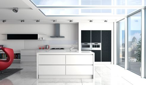 Linear Gloss White & Matt Black Grained