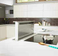 Linear Mussel & Taupe downdraft extractor